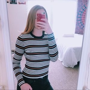 Fall Vibes Striped Sweater